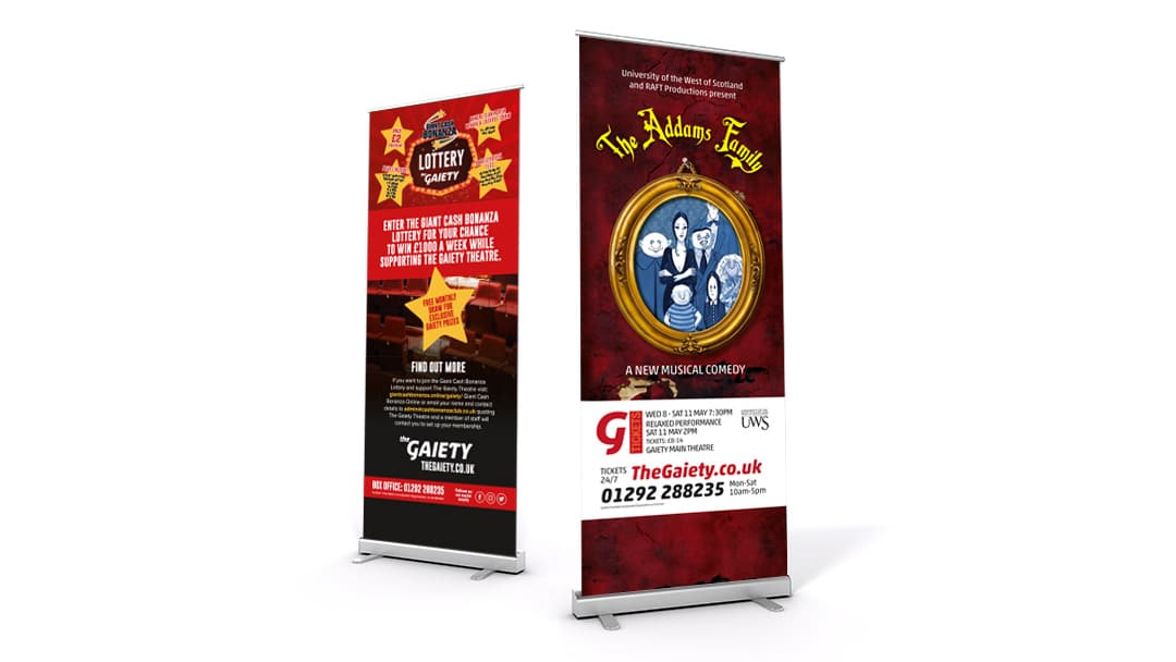 Gaiety Roller Banners