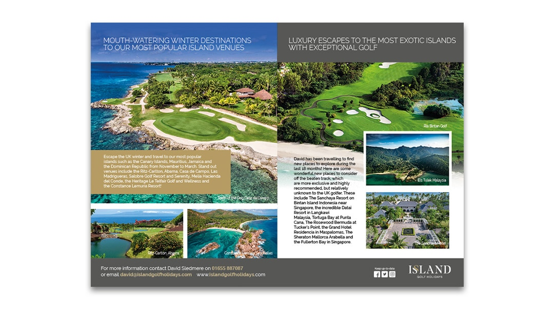 island golf 8pp brochure