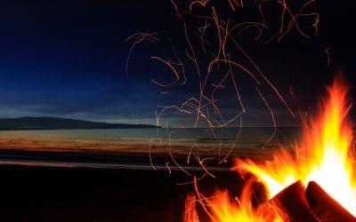 Burns on the beach
